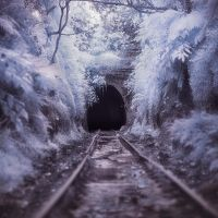 Abandoned Railway Station - Infrared by SteveCampbell