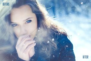 Snowflake Photo Overlays by absolut2305