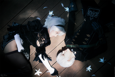 2B and 9S by LayzeMichelle