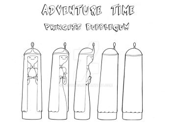Princess Bubblegum Model Sheet-Turn-around by Nes44Nes