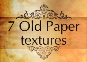 7 Old Paper textures by faelivrinen