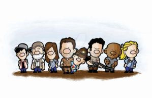 Walkingdeaddoodlez11x17print by keelhaulkate