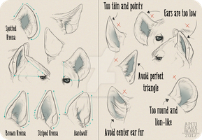 Realistic Hyena Ear Tutorial by AntiDarkHeart