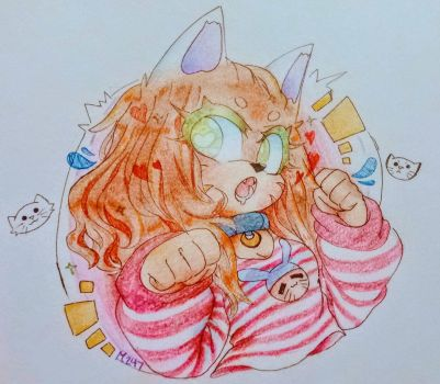 Commission - Moko-koi : NyA h A h a by 00000000m3rp