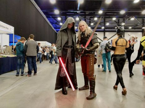 Jedi Exile and Geralt of Rivia by seregasko