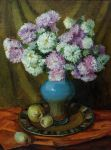 Chrysanthemums and apples by AmsterdamArtGallery