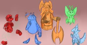 Rayman redesigns in my style [No. 1] by Skull-gum