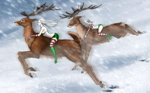 .: Xmas race :. by JustBast
