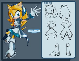 TM-Maria the hedgehog new ref by E09ETM