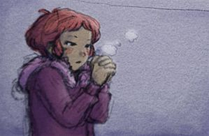 Aelita and french weather by Little-Endian