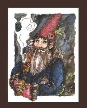 Einar-night time portrait of a young gnome by harusame