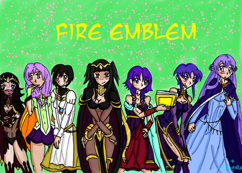 Fire emblem girls by Oline02