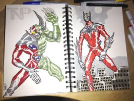 A little Lunchtime Tokusatsu sketching... by tnperkins