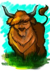 Highland Cow Sketch 2 by Mad--Munchkin