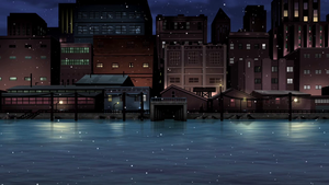 Docks Winter Background 2 by PhoenixInTheSnow