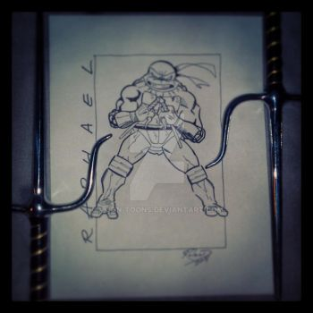 Raphael (inked over pencil) by Moon-Toons