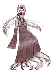 idk another stupid kitsune oc again by Beanie-Face