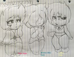 Lots of small gemmies ~ ( P, PB, and Y Siam ) by BlueMetabee