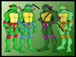 Teenage mutant ninja turtles by B-man-G-man
