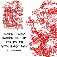 Cutout Paper Dragon Brushes by TwinEnigma