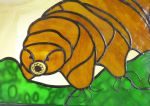 Tardigrade Stained Glass Panel by trilobiteglassworks