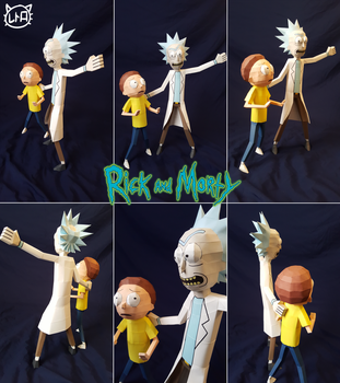 [Adult Swim] Papercraft ~ Rick and Morty by SuperRetroBro