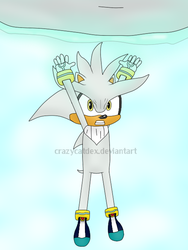 Silver The Hedgehog - Spirit Bomb! by CrazyCatDex