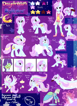 Daydream Nightstar Reference Sheet by Aura-Silvier