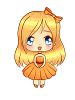 Chibi in Orange by TaitRochelle