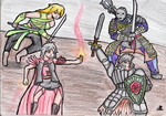 Ferelden Sisters vs Drangleic Brothers by ChromeFlames
