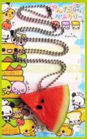 Watermelon Necklace by cherryboop