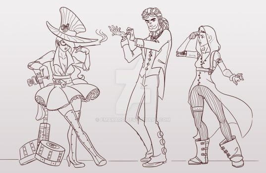 Doodle-steampunk by Emakaro
