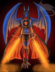 Welder of flame by BlueRavenfire