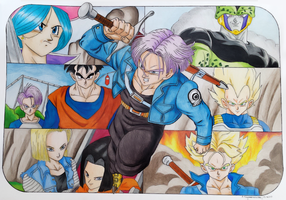 Future Trunks collage by elfaba1993