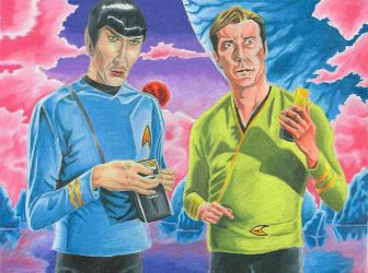 Spock and Kirk by jmsnooks