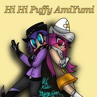 Hi Hi Puffy AmiYumi (requested by Prentis-65) by lilmissfryingpan