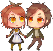 Simple Chibi Couple by hatsukibambi