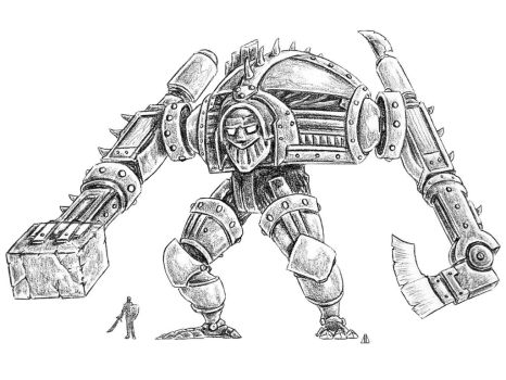 Warforged Titan (Mech Madness 22) by AndrewDeFelice