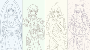 RWBY Maidens Lines by Madgamer2k7