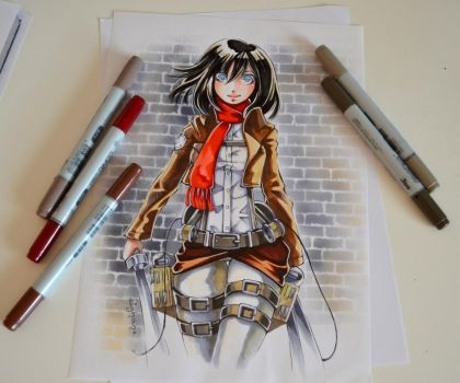 Mikasa from Attack on Titan by Lighane