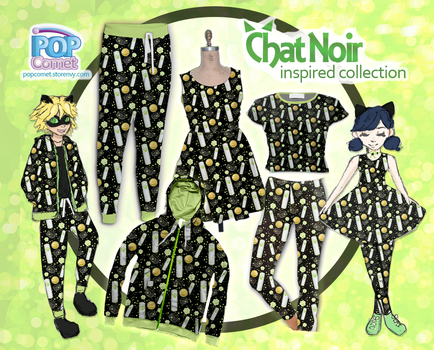 Chat Noir Inspired Clothes Miraculous Ladybug by ShyDaniLamb