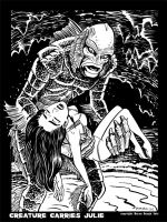 Creature Carries Julie by BryanBaugh