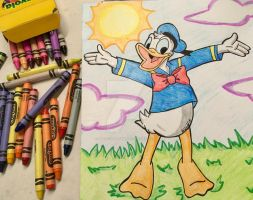 Donald Duck Re-Draw 2017 by Magical-Mama