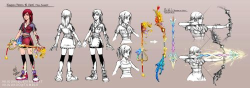 KH - Fan Concept for KH3 Kairi by Nijuuni