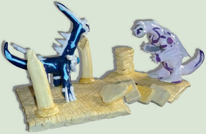 Sculptures of Palkia and Dialga :D