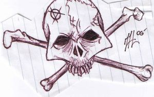 Skull and Crossbones by D3ATHS-ADV0CATE