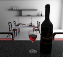 Kitchen Wine Bottle DOF by Cage-waRp