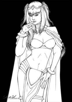 Tharja Lineart by Chibivi-Linearts