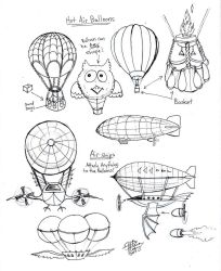 Draw Hot Air Balloons and Air Ships by Diana-Huang