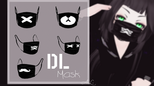 [MMD] TS Mask Black - DL by Aliskysw
